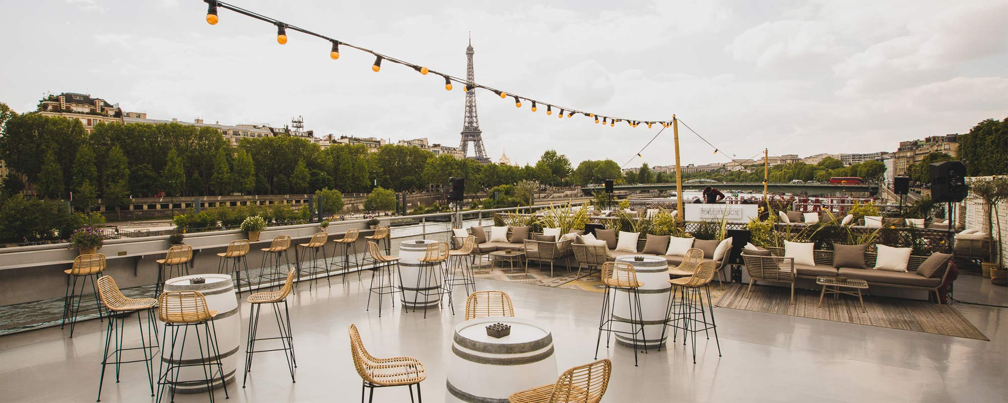 Terrace - Rooftop - Le Club restaurant Paris